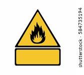flammable material sign vector... | Shutterstock .eps vector #584735194