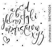 hand lettering alphabet. modern ... | Shutterstock .eps vector #584740024