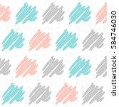 doodle handmade seamless... | Shutterstock .eps vector #584746030