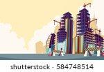 vector cartoon illustration of... | Shutterstock .eps vector #584748514