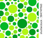 color green circle. chaotic... | Shutterstock .eps vector #584749960
