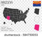 a united states of america... | Shutterstock . vector #584750053