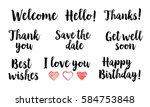 isolated words for your design. ...   Shutterstock .eps vector #584753848