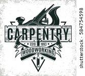 Vintage Woodworking Logo Desig...