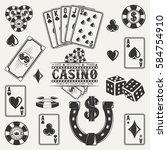 Set Of Casino  Poker And Dice...