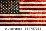 Usa Flag Rusty Metallic...