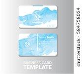 business card template | Shutterstock .eps vector #584758024