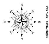 compass panel on white... | Shutterstock .eps vector #5847583