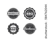 set of barbecue labels | Shutterstock .eps vector #584762044