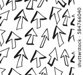 hand drawn seamless pattern... | Shutterstock .eps vector #584766040