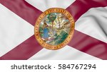 waving flag of florida state.... | Shutterstock . vector #584767294