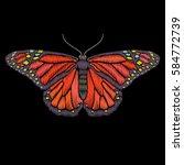 vector vintage butterfly... | Shutterstock .eps vector #584772739