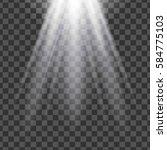 isolated spotlight. light... | Shutterstock . vector #584775103