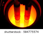 steel factory.the melting... | Shutterstock . vector #584775574