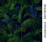 tropical seamless wallpaper... | Shutterstock .eps vector #584780548