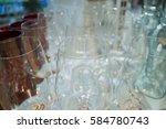festive glasses   Shutterstock . vector #584780743