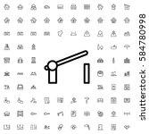 barrier icon illustration... | Shutterstock .eps vector #584780998