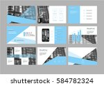 vector blue presentation... | Shutterstock .eps vector #584782324