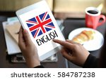english   british england... | Shutterstock . vector #584787238