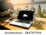 cloud computing diagram network ... | Shutterstock . vector #584787934