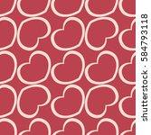 rose hearts seamless vector... | Shutterstock .eps vector #584793118