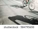 Group Of Cyclist Pedaling On A...