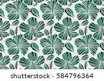 floral pattern for wedding... | Shutterstock . vector #584796364