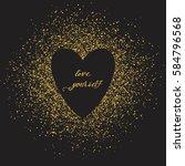 hello love. abstract vector... | Shutterstock .eps vector #584796568