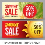 summer sale vector banner set... | Shutterstock .eps vector #584797024