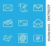 correspondence icons set. set... | Shutterstock .eps vector #584798329