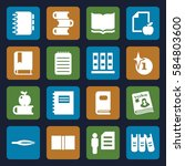 book icons set. set of 16 book... | Shutterstock .eps vector #584803600
