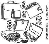 finance vector drawings... | Shutterstock .eps vector #584805094