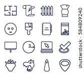 drawing icons set. set of 16...