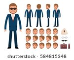 smart businessman character... | Shutterstock .eps vector #584815348