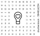 bulb heart icon illustration... | Shutterstock .eps vector #584816254