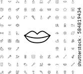 lips icon illustration isolated ... | Shutterstock .eps vector #584819434