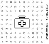 first aid kit icon illustration ... | Shutterstock .eps vector #584821510