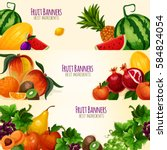 fruits banners set of vector... | Shutterstock .eps vector #584824054