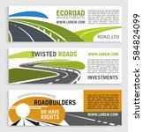 roads and highways vector... | Shutterstock .eps vector #584824099