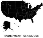 vector usa2 map on white... | Shutterstock .eps vector #584832958