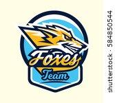 colourful emblem  logo  sticker ... | Shutterstock .eps vector #584850544