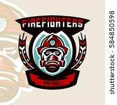 colorful logo  badge  logo ... | Shutterstock .eps vector #584850598