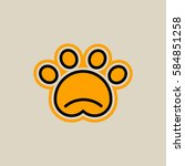 logo trail of paw pet  cat  dog.... | Shutterstock .eps vector #584851258