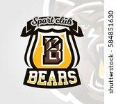 colorful logo  emblem  letter... | Shutterstock .eps vector #584851630