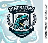 colourful emblem  logo ...   Shutterstock .eps vector #584851669