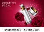 cosmetic product poster  rose... | Shutterstock .eps vector #584852104