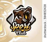colorful logo  emblem  growling ... | Shutterstock .eps vector #584852428