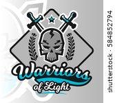 colorful logo  emblem  skull... | Shutterstock .eps vector #584852794