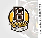 colorful logo  emblem  letter... | Shutterstock .eps vector #584852824