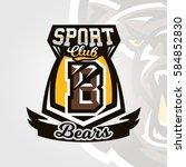 colorful logo  emblem  letter... | Shutterstock .eps vector #584852830